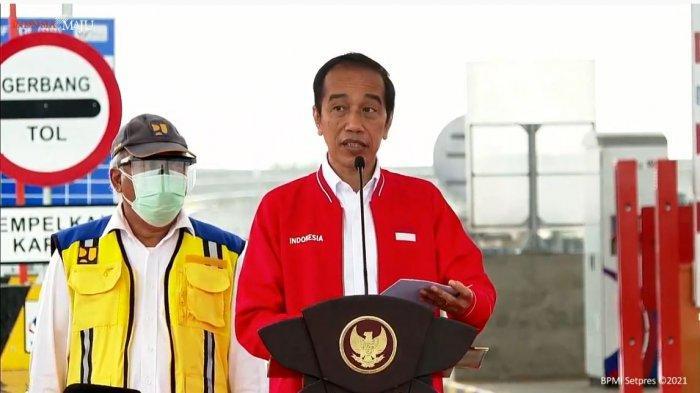Sebut Pangkas Waktu Tempuh dari 12 Jam Menjadi 3 Jam Jokowi Resmikan Jalan Tol Kayu Agung-Palembang